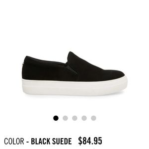 Steve Madden slip on sneakers suede upper